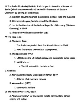 Global 2: Cold War Notes