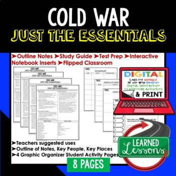 Cold War Outline Notes JUST THE ESSENTIALS Unit Review