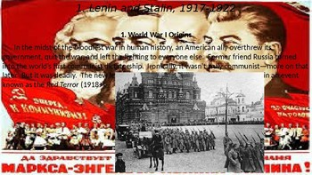 """Cold War Part I Chapter 1. """"If Hitler Invaded Hell,"""" 1917-1949"""
