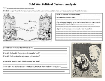 Cold War Political Cartoon Analysis