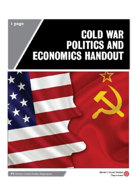 Cold War Politics and Economics Handout