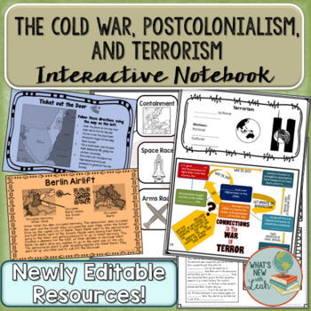 Cold War, Post Colonialism, and Terrorism Interactive Notebook Bundle