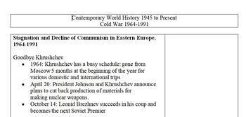 Cold War PowerPoint Bundle (3 PowerPoint Presentations and Note Sheets)