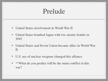 Cold War PowerPoint Presentation
