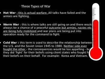 Cold War PowerPoint Presentation U.S. History 1940's-1950's