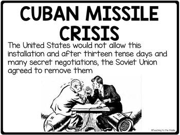Cold War PowerPoint and Guided Notes, Soviet Union, USA, Arms Race, Video Links