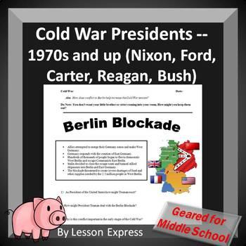 Cold War Presidents -- 1970s and up (Nixon, Ford, Carter, Reagan, Bush)