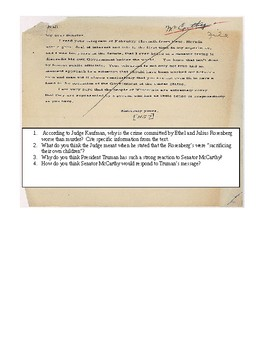 Cold War Primary Sources Analysis