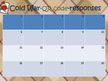 Cold War {QR code task}