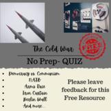 Cold War Quiz --- 5th Grade
