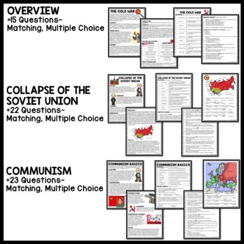 Cold War Reading Comprehension Worksheets Bundle 14 articles, 1 Quiz, Communism