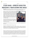 Cold War - Reagan's 'Tear Down This Wall!' - Speech Analysis and Answer Key