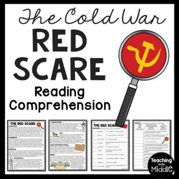 Cold War- Red Scare Reading Comprehension Worksheet, Soviet Union