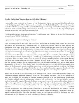 Cold War (Red Scare) Speech Analysis Activity