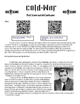 Cold War: Red Scare and McCarthyism