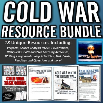 Cold War - Resource Bundle (Projects, Webquests, Assignmen