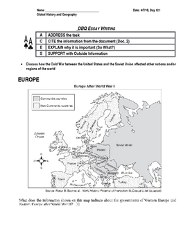 Cold War Review- Writing Activity