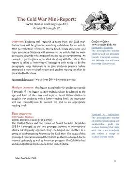 Cold War Social Studies Literacy Research Report