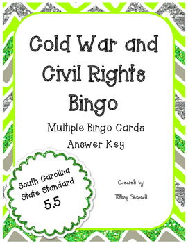 Cold War Space Race Civil Rights Review Bingo