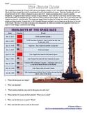 Cold War Space Race Info Worksheet