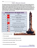 Cold War Space Race Info Worksheet