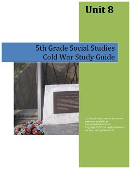 Cold War Study Guide--5th Grade Social Studies