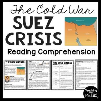 Cold War- Suez Crisis Reading Comprehension Worksheet, Egy
