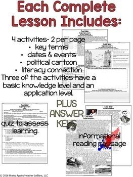 Cold War Superpowers: No Prep Lesson: PowerPoint, Passage, Activities, Quiz