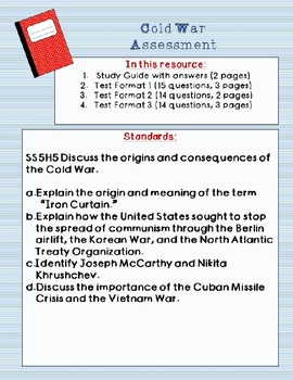Cold War Test and Study Guide