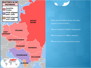 Cold War: The Eastern European Bloc PPT and Mini-lesson