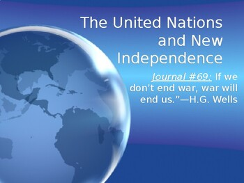 Cold War: The United Nations and New Independence