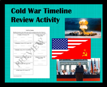 Cold War Timeline Review Activity