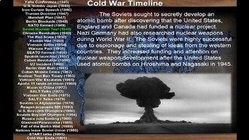 Cold War Timeline Activity - Comprehensive 127-slide PPT covering 36 events