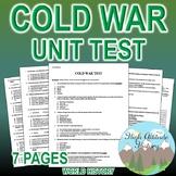 Cold War Unit Test / Exam / Assessment