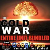 Cold War Unit - PPTs, Worksheets, Lesson Plans+Test