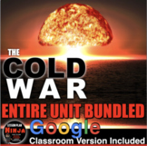 Cold War Unit - PPTs, Worksheets, Lesson Plans+Test