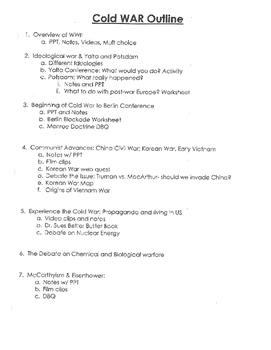 Cold War Unit Plan Part 1 out of 9 - great unit plan
