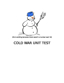 Cold War Unit Test: Multiple choice and short answer