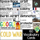 Cold War Vocabulary Cards; Distance Learning; Digital Learning