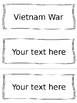 Cold War Vocabulary Cards - SS5H5