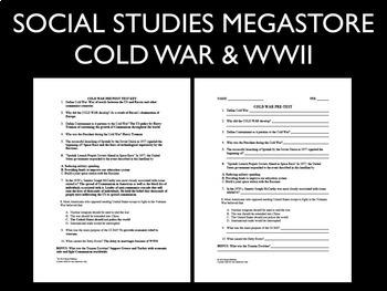 Cold War WWII Pre-Test Post Test