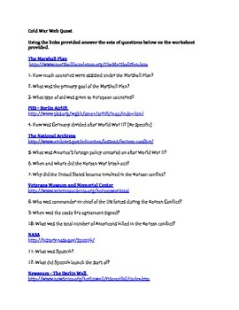Cold War Webquest