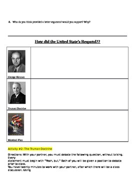 Cold War Why we started the policy of Containment Student Notes Page