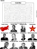 Cold War Worksheet/ Word Search