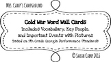 Cold War Word Wall/Bulletin Board Cards