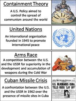 Cold War Word Wall Cards