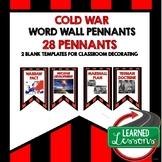 Cold War Word Wall Pennants (American History)