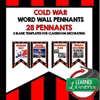 Cold War Word Wall Pennants (American History)