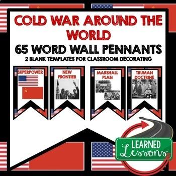 Cold War Word Wall Pennants (World History)