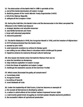 Global 2: Cold War Worksheet